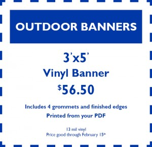January Coupon - OutdoorBanners
