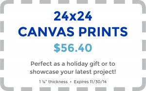 October Coupon - Canvas Prints