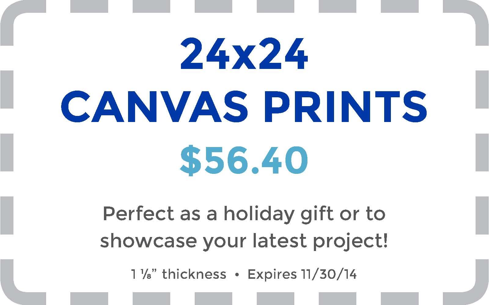 Walmart coupon canvas prints